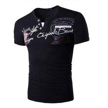 5 Color 2017 New Fashion Brand T Shirt Personalized Print Slim Short Sleeve Tops & Tees MenS Clothin XXL