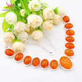 New Arrival --High Quality holiday Gift Synthetic Amber necklaces for women wedding jewelry necklace