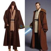 Star Wars Obi Wan Kenobi Cosplay Costume Jedi Knight Costume Boys Clothes Halloween TUNIC Cloak Robe