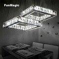 Moderne 2 Grid Kristall Anhänger Licht Führte Hängende Beleuchtung Decke Leuchte Droplight Wohnzimmer Schlafzimmer Esszimmer Innen Lampe