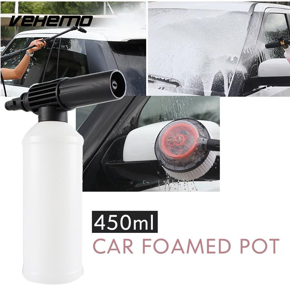 Vehemo with Adapter Snow Foam Lance Connection Pressure Washer Gun Adjust Car Foamer Wash Bottle Maintenance Tube