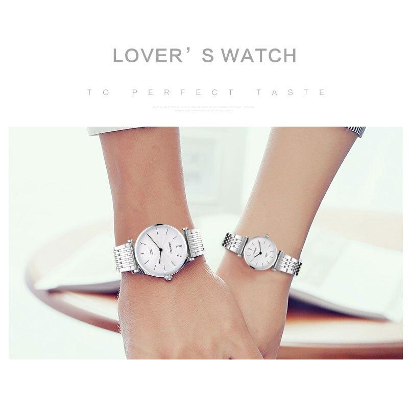 Men Quartz Watches Fashion Lover's Watch Women Watches Set 2019 BOAMIGO Brand Steel Wristwatches Ultra Thin  Relogio Masculino