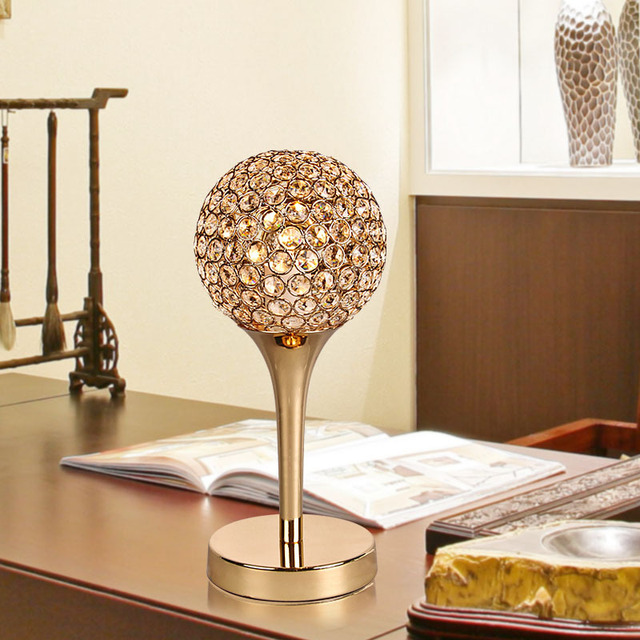 Modern K9 Crystal Abajur Home Office Quarto Abajur Decoração Luminaire E14 110-240 V