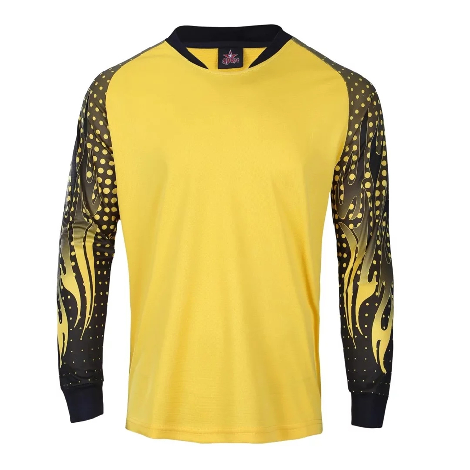 Men Rugby Goalkeeper Jerseys Survetement Football Jersey Goal Keeper Sports Kit Soccer Training Shirts Clothes Custom Print Draw