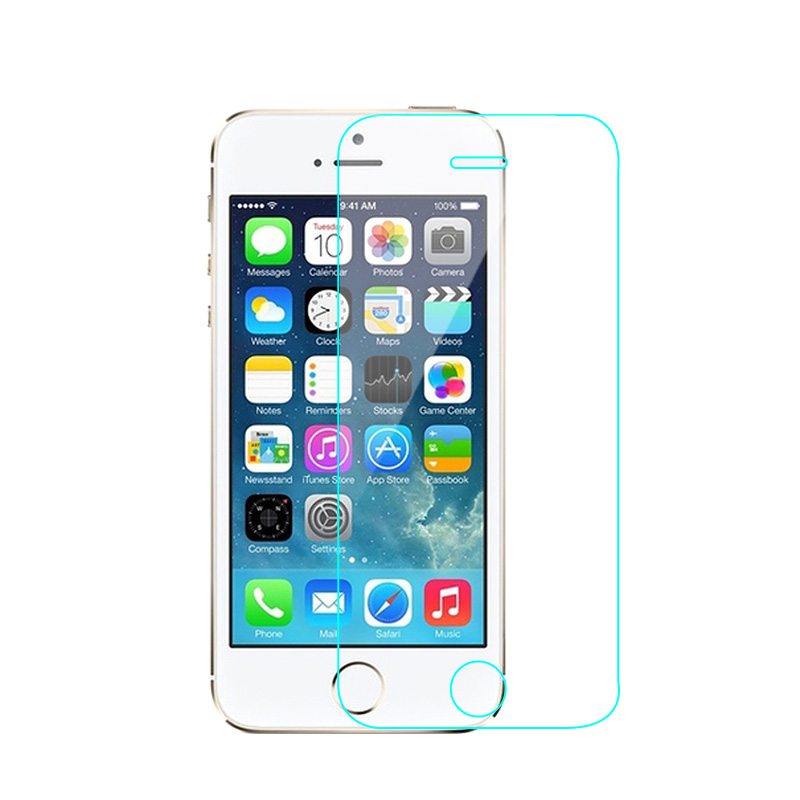 For Apple iPhone 4 4S Premium Tempered Glass Screen Protector Ultra Thin Clear Explosion-proof Protective Film