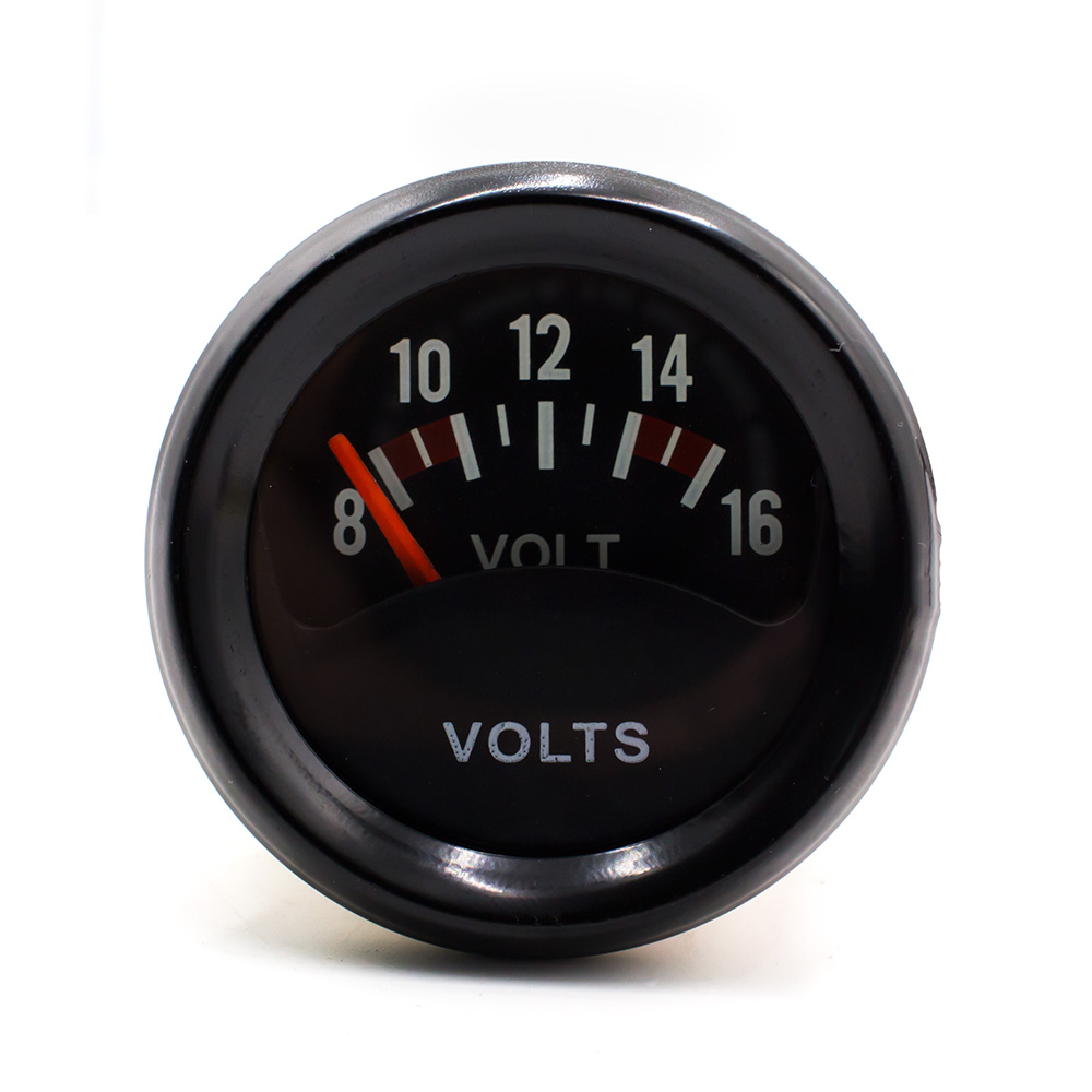 Nuevo Racing 2 pulgadas 52mm Voltímetro de coche 8-16V Volt Gauge Meter Led Light / Auto Instrument Gauge TT100838