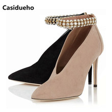 Rhinestone Women Pumps Pointed Toe High Heels Casidueho. US  78.97   Pair Free  Shipping fe4af9863a73