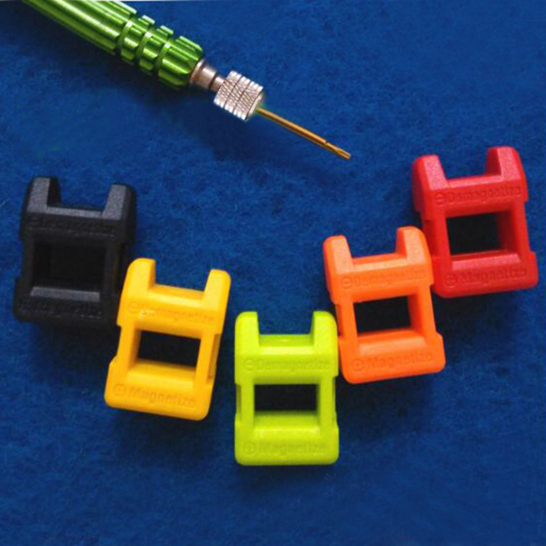 Mini - Fast 2 in 1 Magnetizer Demagnetizer Tool Screwdriver Magnetic High Quality Colour Send Random orange 5mm hole dia screwdriver bit magnetizer demagnetizer ring 2 pcs