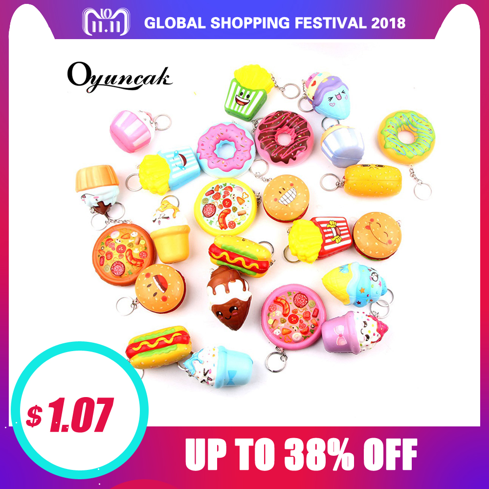 Oyuncak Antistress Squishy Novelty Gag Toys Squish Funny Surprise Donut Stress Relief Toy Key Chain Prank Kawaii Squishies Jumbo oyuncak squishy unicorn novelty gag toys surprise antistress fun squeeze unicorn squish kawaii anti stress jumbo funny gadgets