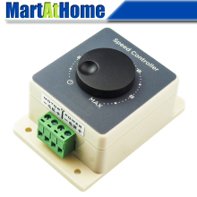 Регулятор скорости двигателя постоянного тока, регулятор скорости 10-60 в 10 А 25 кГц, плавное регулирование скорости, водонепроницаемый