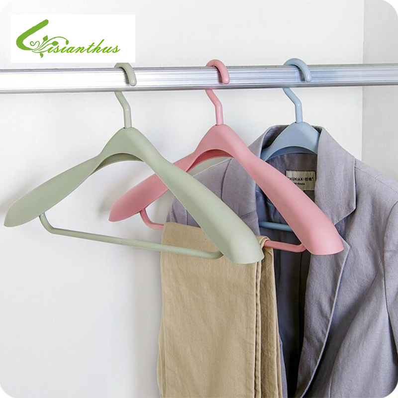 Plastic Clothes Hanger Antiskid 360 Degree Rotatable Seamless Non-slip Drying Rack Thick Wide Coat Suit Underwear Adult Hangers