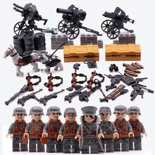 4 in 1 German Army World War 2 Military Soldier SWAT Gun Weapon Navy seals team
