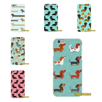 dachshund doxie flower dog puppy Slim Silicone phone Case For Samsung Galaxy S3 S4 S5 MINI S6 S7 edge S8 Plus Note 2 3 4 5 Собака