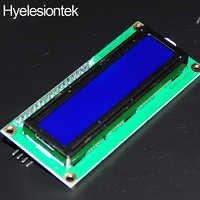 Módulo para Arduino 1602 retroiluminación azul pantalla LCD 16x2 HD44780 personaje LCD IIC I2C con adaptador de interfaz Serial tabla Uno Nano