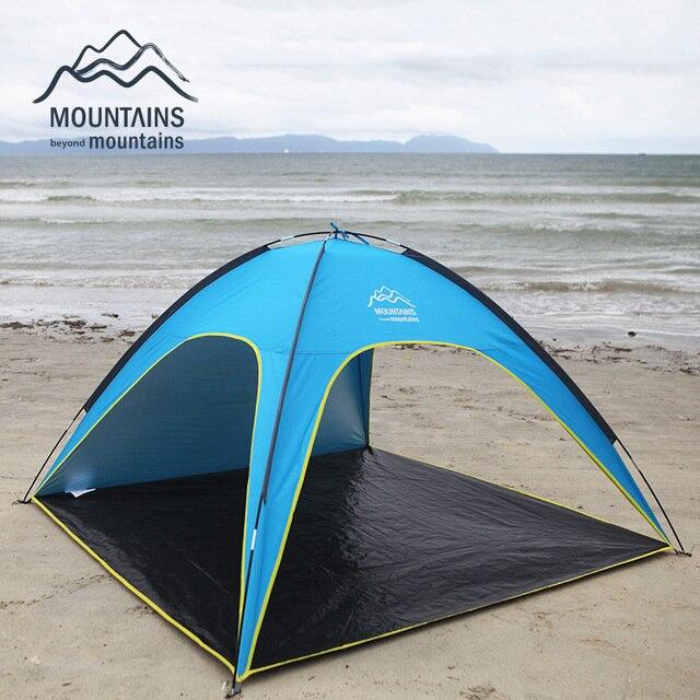 4 Человек Пляж Палатки Сверхлегкий Пляж Отдых На Природе Палатка Солнце Приют Большой Открытый Складной Тент Tenda Ветер устойчивостью Tente Анти-Уф