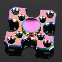 Block Colorful Tri Spinner Fidget Toy EDC Hand Spinner Anti Stress Reliever And ADAD Fidget Spinner