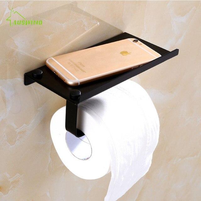 Europejski Styl Czarny Papier Toaletowy Wieszak Na