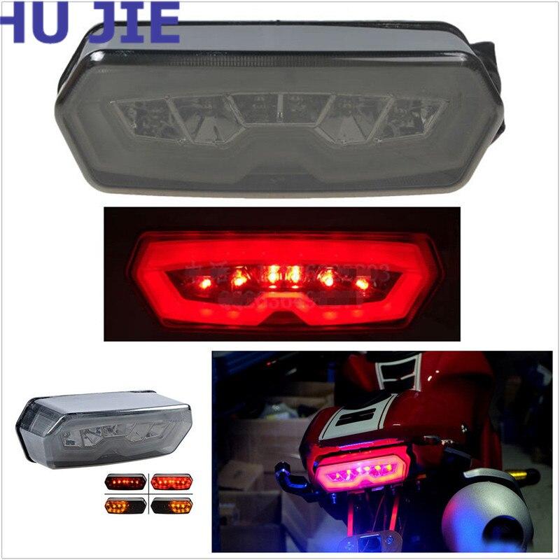 Motorcycle LED Brake Tail Light Integrated Turn Signal For Honda MSX 125 CB 650