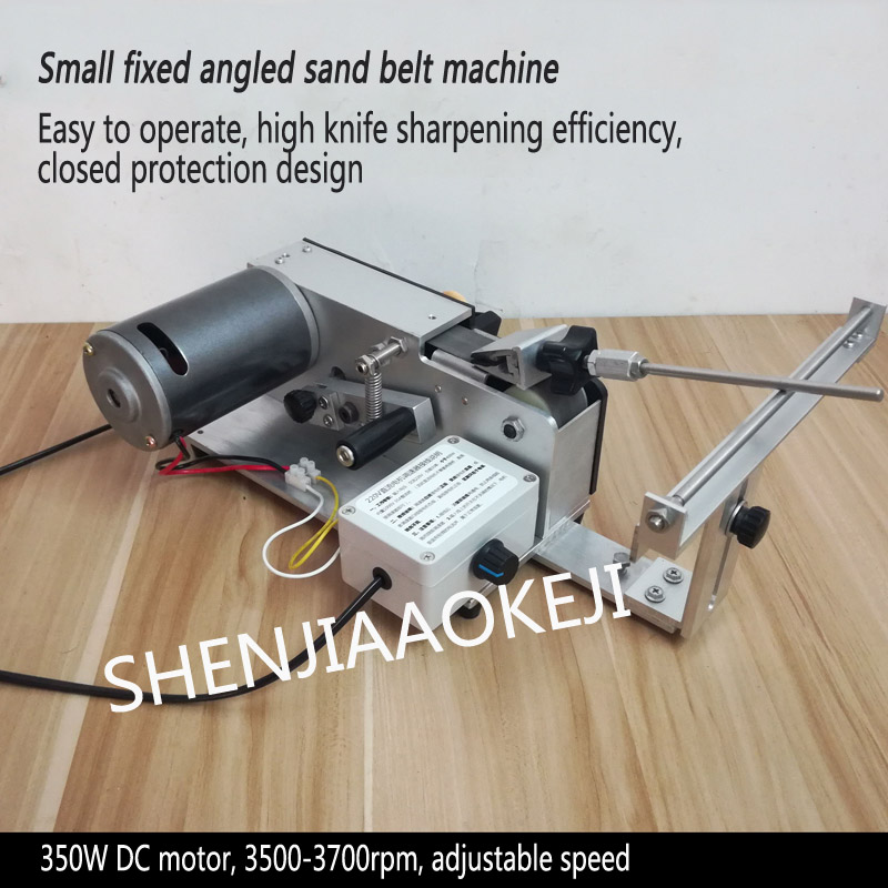 Machine de ceinture de sable d'affûteuse d'angle fixe 150W 3500-7000 tr/min couteau de meulage d'angle fixe Machine de ceinture de sable affûteuse de couteau d'hôtel 24V