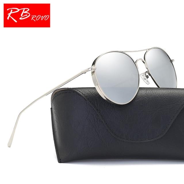 3bf9eca9156472 RBROVO Fashion Vintage Sun glasses Women Men Metal Classic Polarized  SunGlasses Shopping Party Lunette Soleil