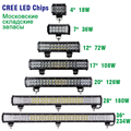 Racbox 4inch 7'' 12inch 17'' 20'' 28inch Off Road LED Light Bar with CREE LED Chips 18W 36W 72W 126W 180W 234W Combo Spot Flood