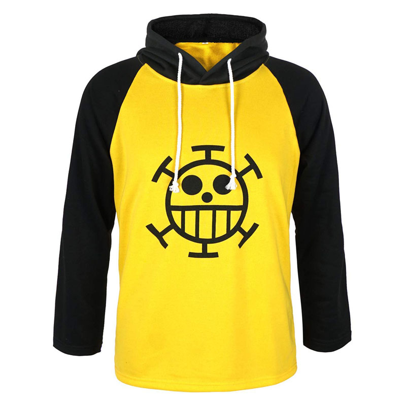 Anime One Piece Trafalgar Law Hoodie Long Sleeve T-Shirt Sweatshirt Hooded Tops Tee Jacket Cosplay Costume euro size