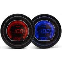 Dragon Gauge Universal 2 52mm Air Fuel Ratio Gauge Blue/Red Dual Led Color Digital LED Light Gauge Meter