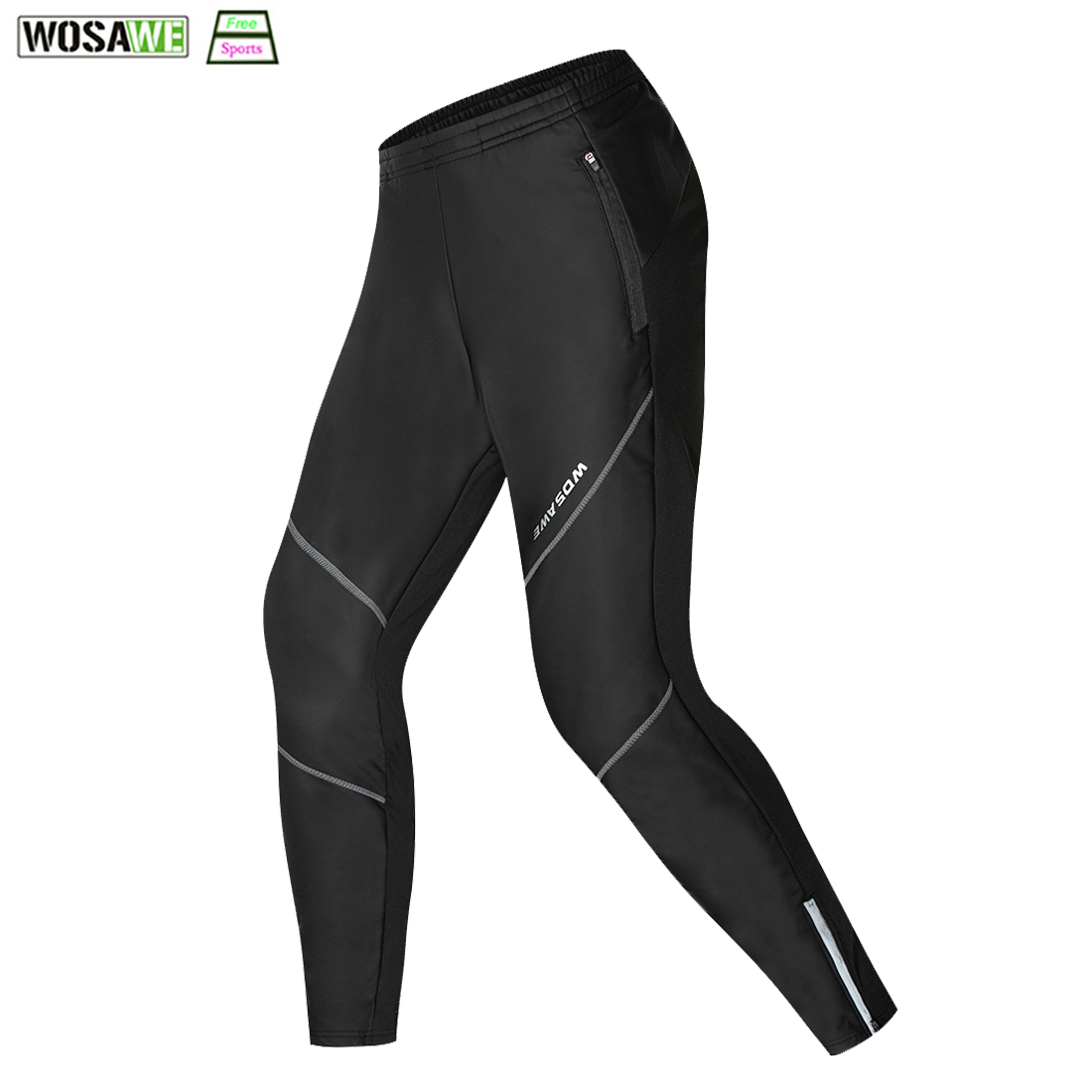 WOSAWE Winter Thermal Fleece Cycling Pants Waterproof Windproof MTB Road Bike Trousers Bicycle Clothing Sports Tights & Pants nuckily men s winter bicycle pants waterproof and windproof outdoor breathable polyester durable fabric cycling sports tights