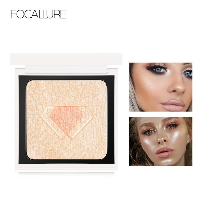 FOCALLURE Brand new 4 colors Highlighter Illuminator Makeup Face contour shimmer powder Glow brighten Gold highlighter palette