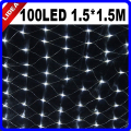 1.5*1.5M 100 LED Indoor Holiday Net Mesh LED Christmas Decoration Outdoor Fairy String Navidad Garland New Year Light CN C-23