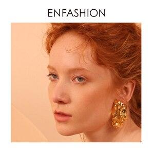Image 5 - Enfashion Goud Laat Oorbellen Voor Vrouwen Goud Kleur Leaf Drop Oorbellen Oorbellen For A Vrouwen Oorbellen Mode sieraden EC181044