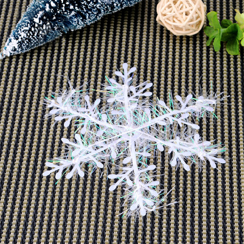 30pcs 10cm cristmas Holiday White Snowflake Charms artificial christmas tree Supplies for Party Home Store Ornaments decoration