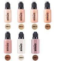OPHIR Airbrush Make-Up Foundation Tinten 3 Farben Air Foundation für Gesicht Malen Make-up Salon Kosmetik Make-Up Pigment_TA104 (2-4-5)