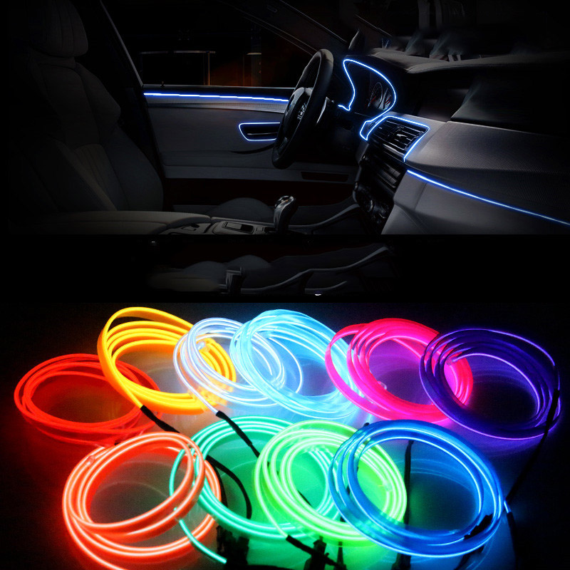 3m car interior light el wire ambient cold line for audi. Black Bedroom Furniture Sets. Home Design Ideas