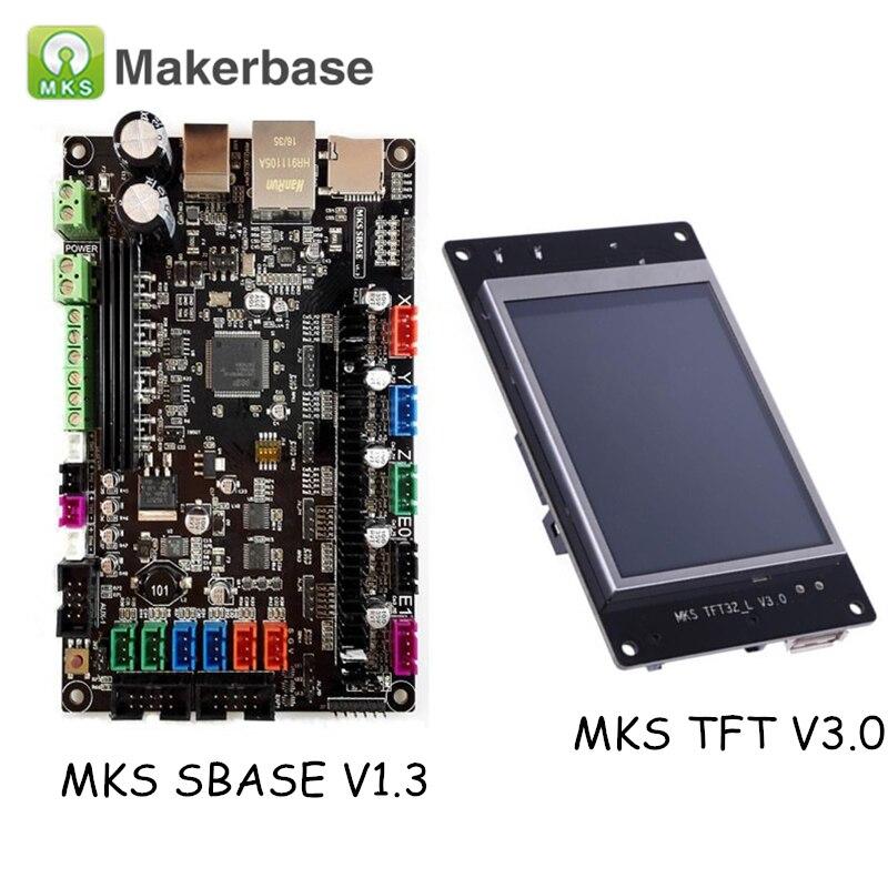 3D Printer Parts MKS SBASE V1.3 Smart Controller Smoothieboard + MKS TFT32 V4.0 Display Compatible Smoothieware