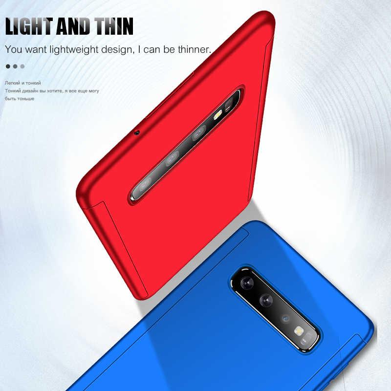 Горячая 360 Полное покрытие чехол для телефона Samsung Galaxy S10 S10E S9 S8 Plus S7 Edge противоударный чехол для Samsung Note 9 8 с мягкой пленкой