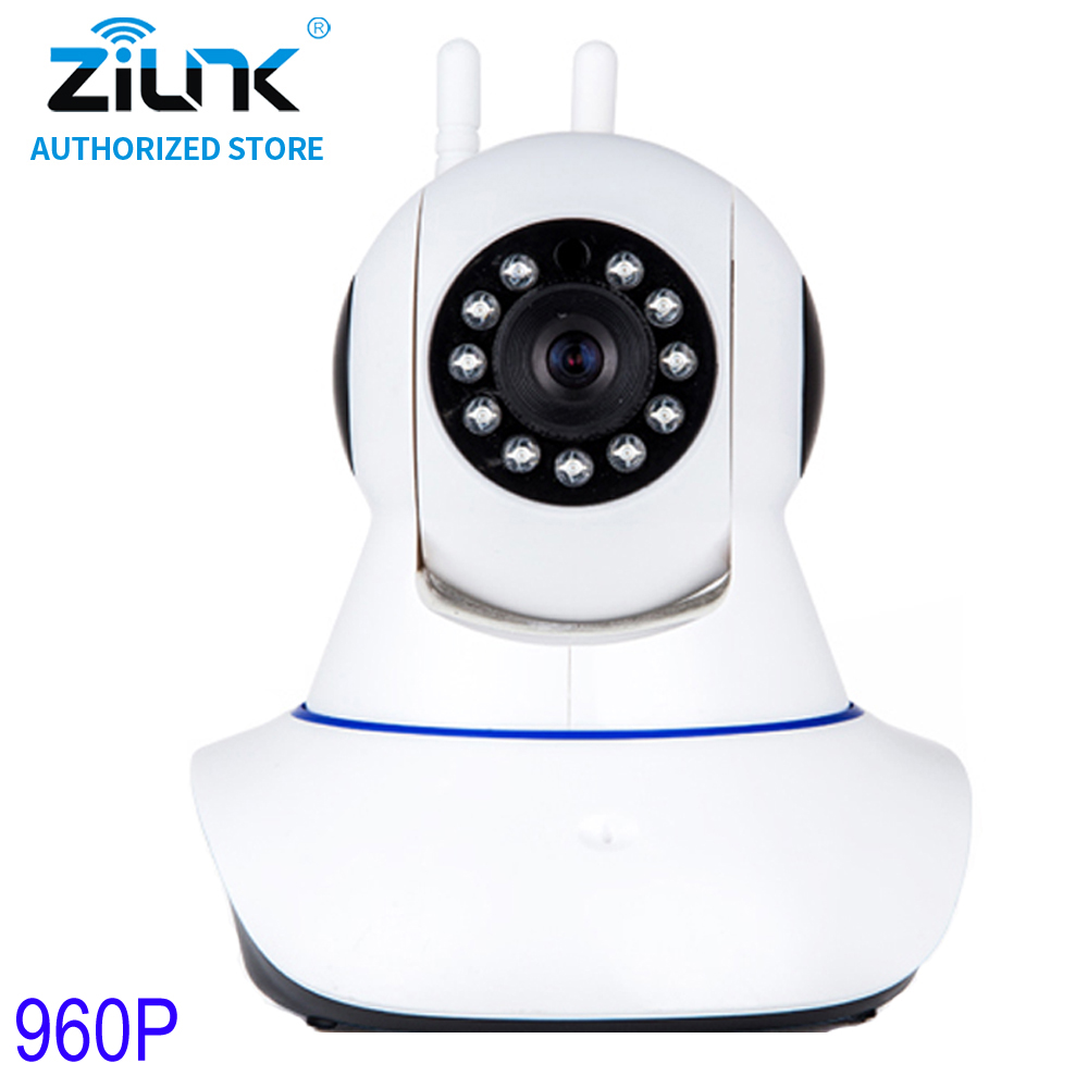 ZILNK 960P 2 Way Audio Pan Tilt Wireless  IP Camera WiFi Home Security CCTV Surveillance Baby Monitor Night Vision Onvif White
