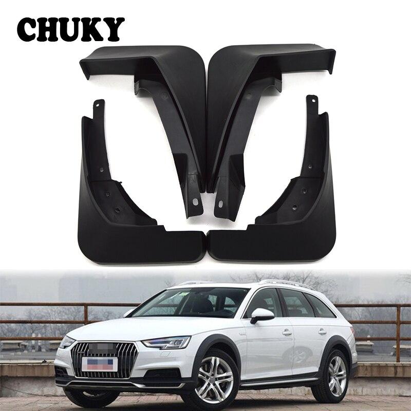 CHUKY Car Front Rear Mudguards For Audi A4 B9 9L 2016 2017 Sedan Accessories Splash Guard Car-styling Fenders 1Set/4Pcs Mud Flap