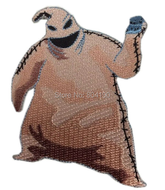 3 the nightmare before christmas oogie boogie figure patch tv movie film series embroidered iron - The Nightmare Before Christmas Oogie Boogie