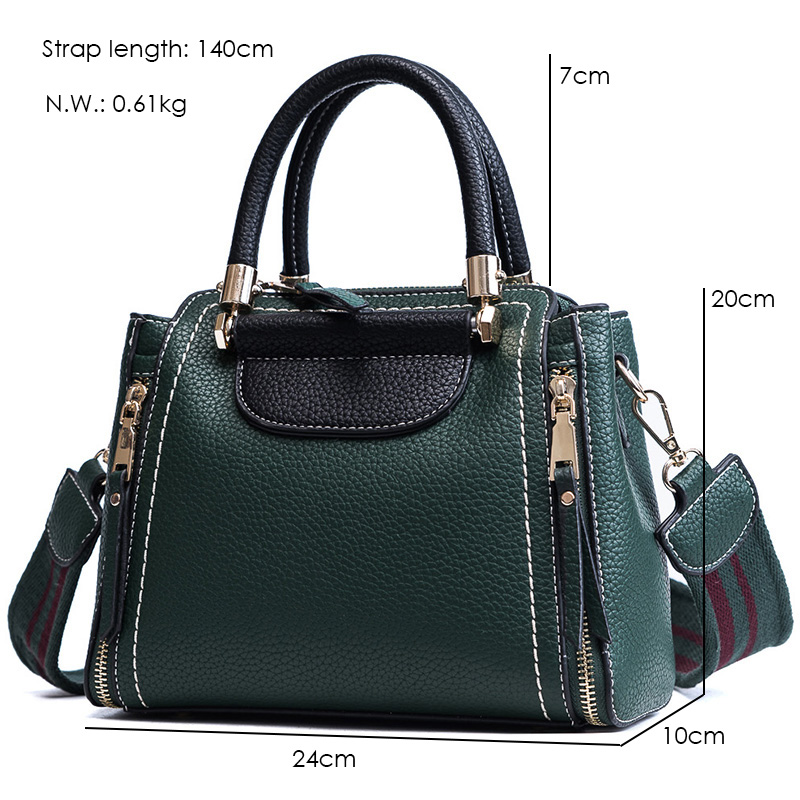 Janespri High Capacity Soft PU Leather Female Handbags Fashion Panelled Women Shoulder Bag Daily Women Casual Tote Messenger Bag (16)