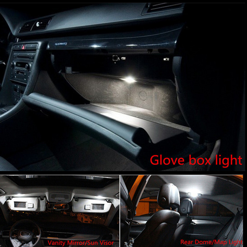 19pcs 12v canbus for audi a4 s4 b8 2009 2012 avant led interior dome light kit package car. Black Bedroom Furniture Sets. Home Design Ideas
