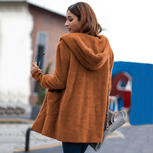 Fleece Cardigans Women Plus Size Long Cardigan Womens Sweaters 2018 Winter Autumn Thin Hooded Sweater Women Cardigan Coat Pull(China)