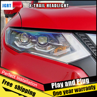 2PCS Car Style LED Headlights For Nissan X Trail 2017 For X Trail Head Lamp LED