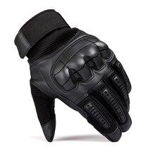 Тактические резиновые перчатки с твердыми костяшками для сенсорного экрана, перчатки с полными пальцами, военные армейские Пейнтбольные страйкбол, велосипедные армейские кожаные перчатки для мужчин