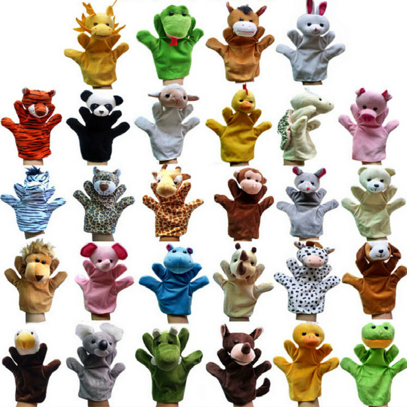 Hot Products Jungle Book props 0-24 months Baby toys Animal hand puppet Lions,tigers,ducks,monkeys,giraffes,rabbits