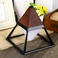 2016 Creative Pyramid LED Night Light Lamp AC 100 - 240V 4W USB Rechargeable LED Desk Light Touch Dimmable Table Lamp