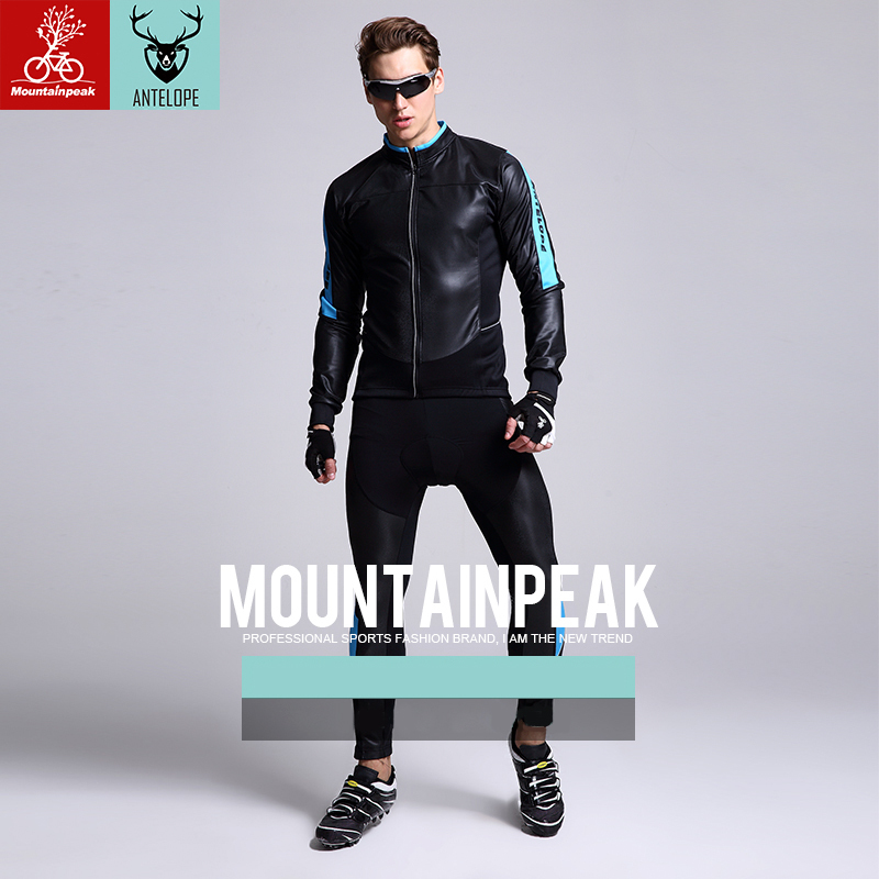 Mountainpeak Long Sleeve Breathable Bike Jersey Sets Women Road Bike Suit Reflective MTB Bike Clothing Men's Cycling Jersey 2017 ckahsbi winter long sleeve men uv protect cycling jerseys suit mountain bike quick dry breathable riding pants new clothing sets