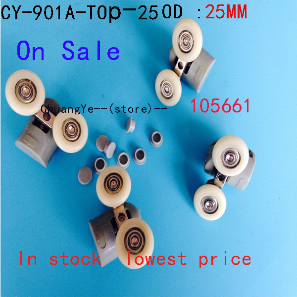 2 X TwinTop  Nylon  Shower Door Rollers Runners Wheels CY-902A On Sale