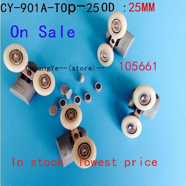 2 X TwinTop  Nylon  Shower Door Rollers Runners Wheels CY-902A On Sale