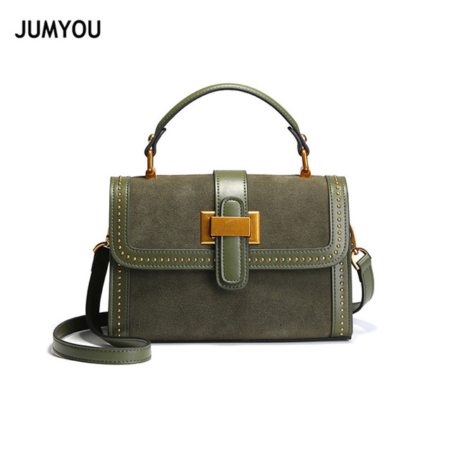 Women Handbags Split Leather Matte Leather Messenger Bags For Female  Fashion Classic Flap Army Green Cross body Bags For Girls c7c57472fc